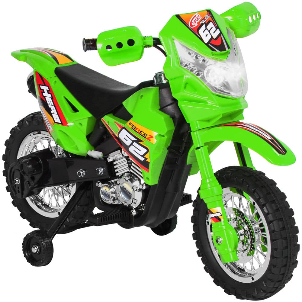 6V Electric Kids Ride On Motorcycle Dirt Bike W/ Training Wheels for $90 + Free Shipping (eBay Daily Deal)