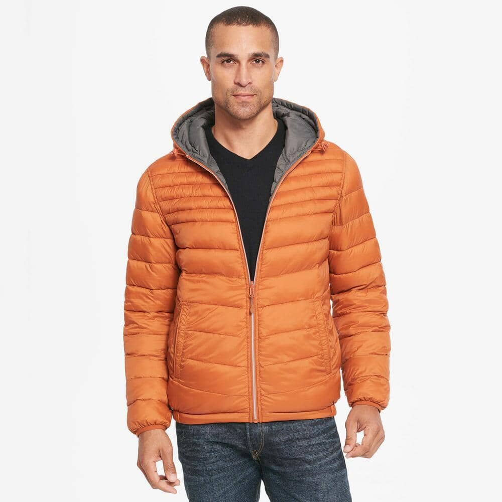 Wilsons Leather Mens Web Buster Hooded Reversible Quilted Puffy Jacket $33.50 + Free Shipping