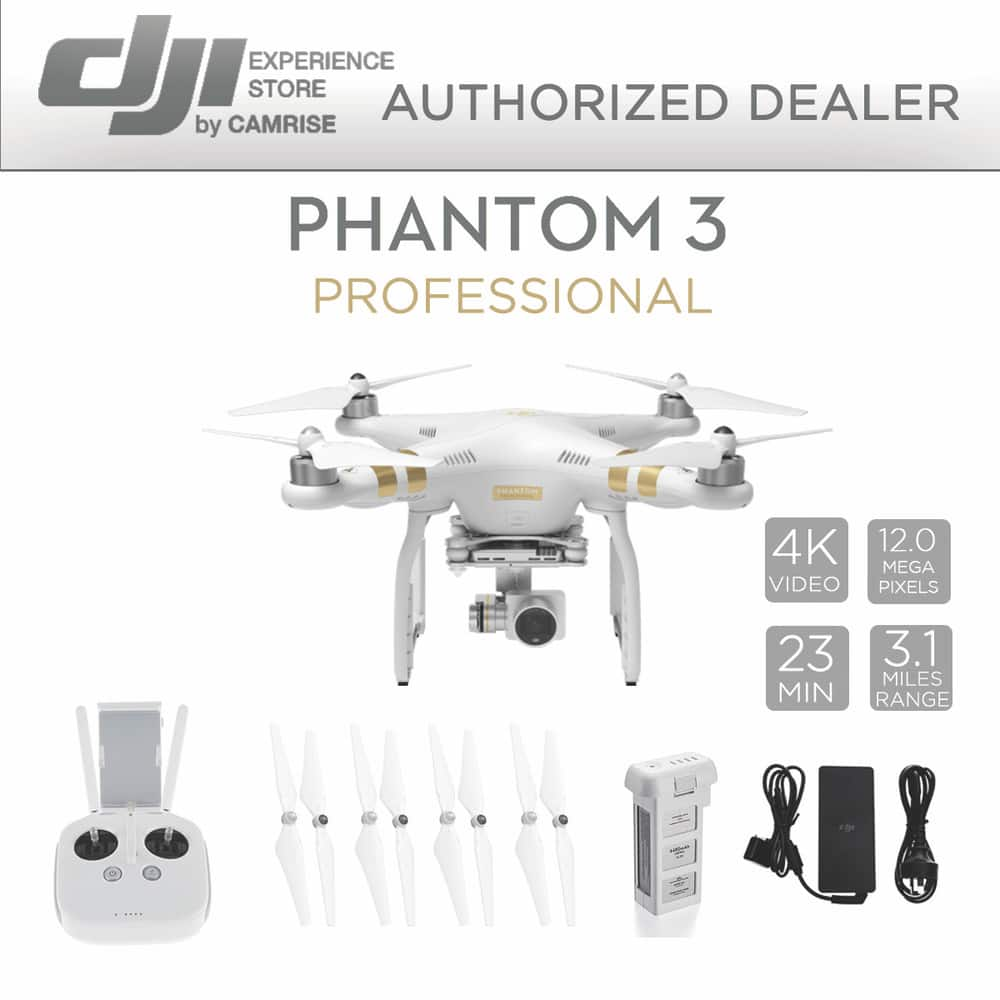 DJI Phantom 3 Professional Quadcopter Drone with 4K Camera (Refurbished) w/ 1 Year DJI Warranty for $524 + Free Shipping (eBay Daily Deal)