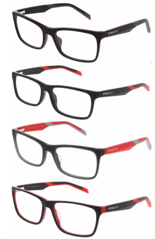 25a338bc6721 TAG Heuer 0554 B-URBAN Prescription 56mm Eyeglasses Frames ...