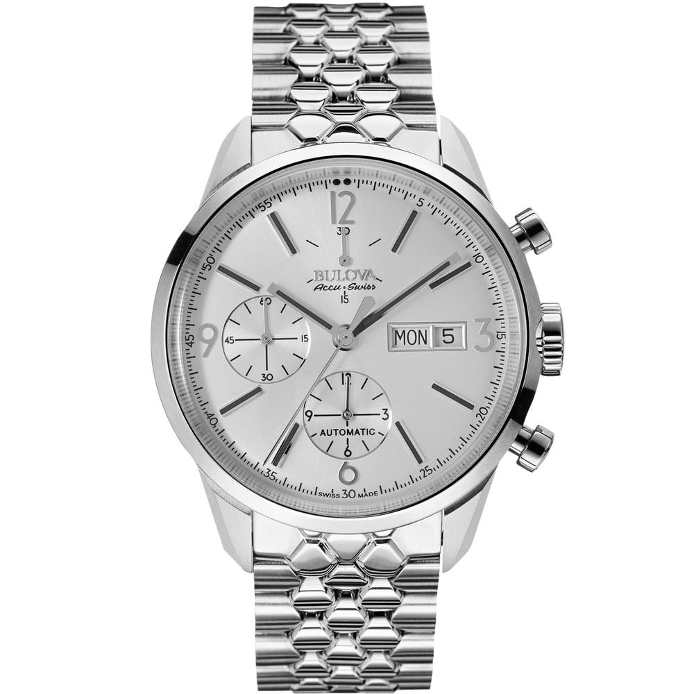 Bulova Accu Swiss 63C118 Mens Accu Swiss Silver Steel Bracelet Watch $293.99 + Free Shipping (eBay Daily Deal)