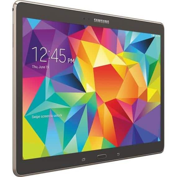 """16GB Samsung Galaxy Tab S Android Tablet with 10.5"""" Display (Refurbished) $160 + Free Shipping"""