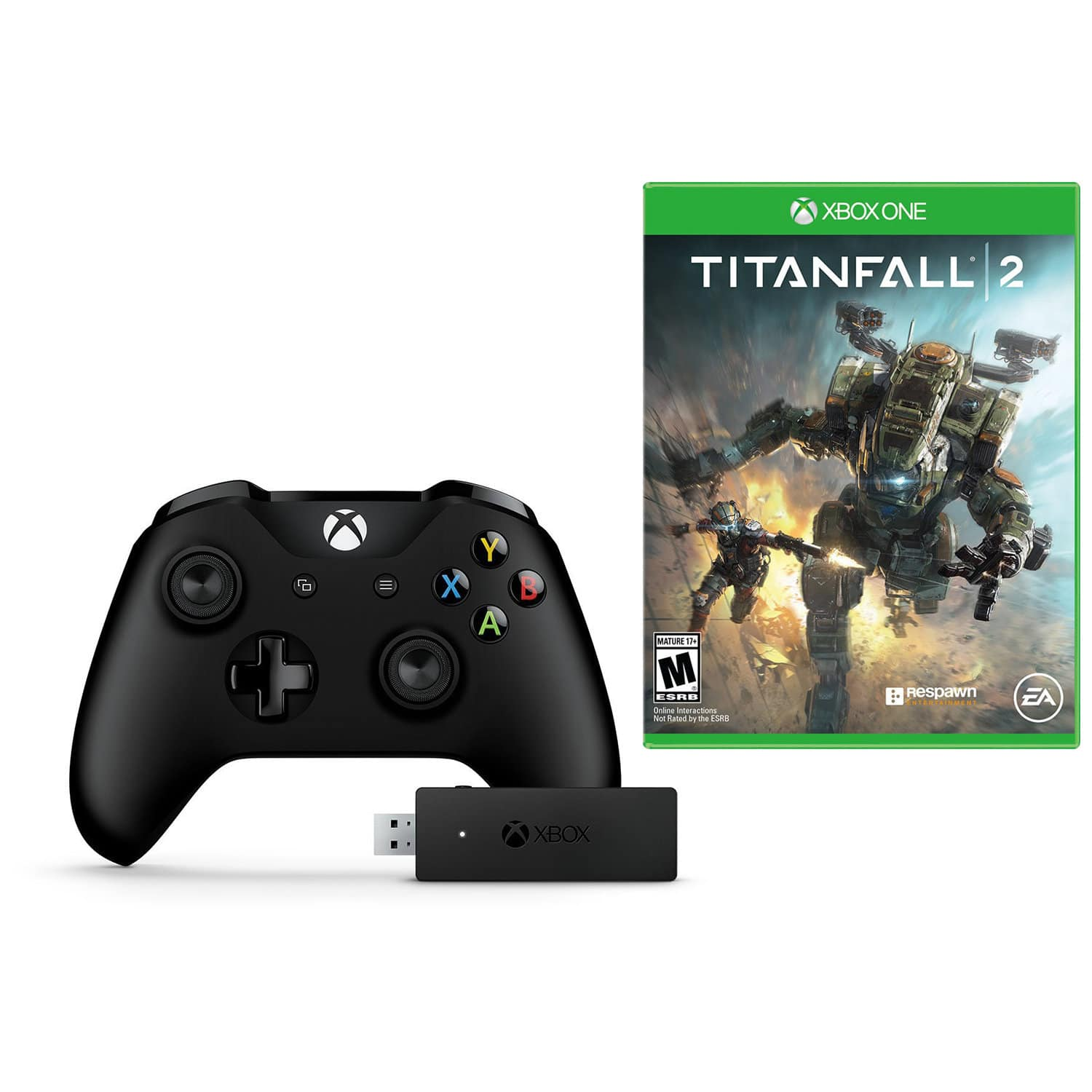 Xbox One Wireless Controller with Adapter for Windows and Titanfall 2 Bundle $55 + Free Shipping