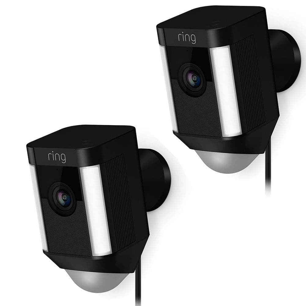 2 Pack Ring Spotlight Cam Wired Security Camera 8SH1P7-BEN0 $269 + Free Shipping (eBay Daily Deal)