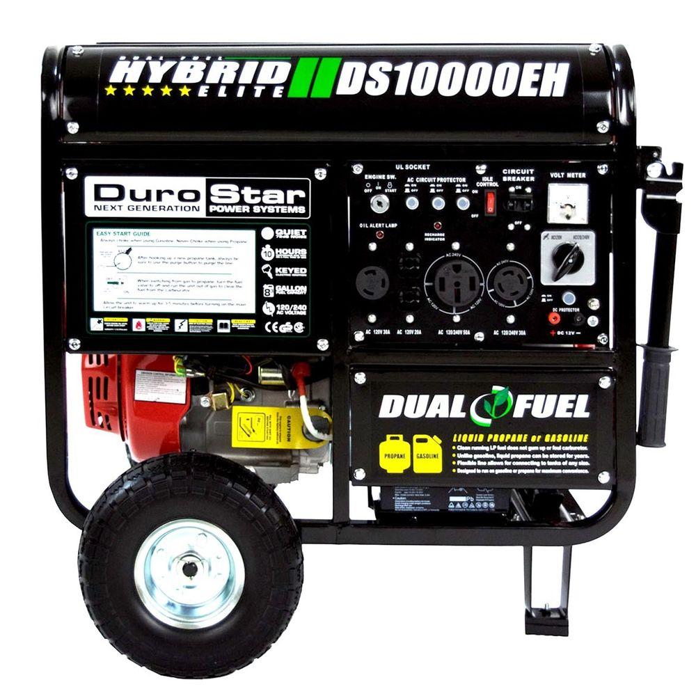 DuroStar 10000 Watt Hybrid Dual Fuel Portable Gas Propane Generator $649.99 + Free Shipping (eBay Daily Deal)