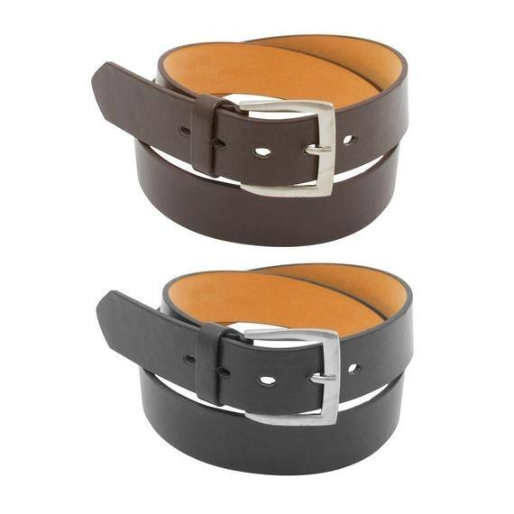 Men's Leather Dress Belts 2 for $8 + Free Shipping