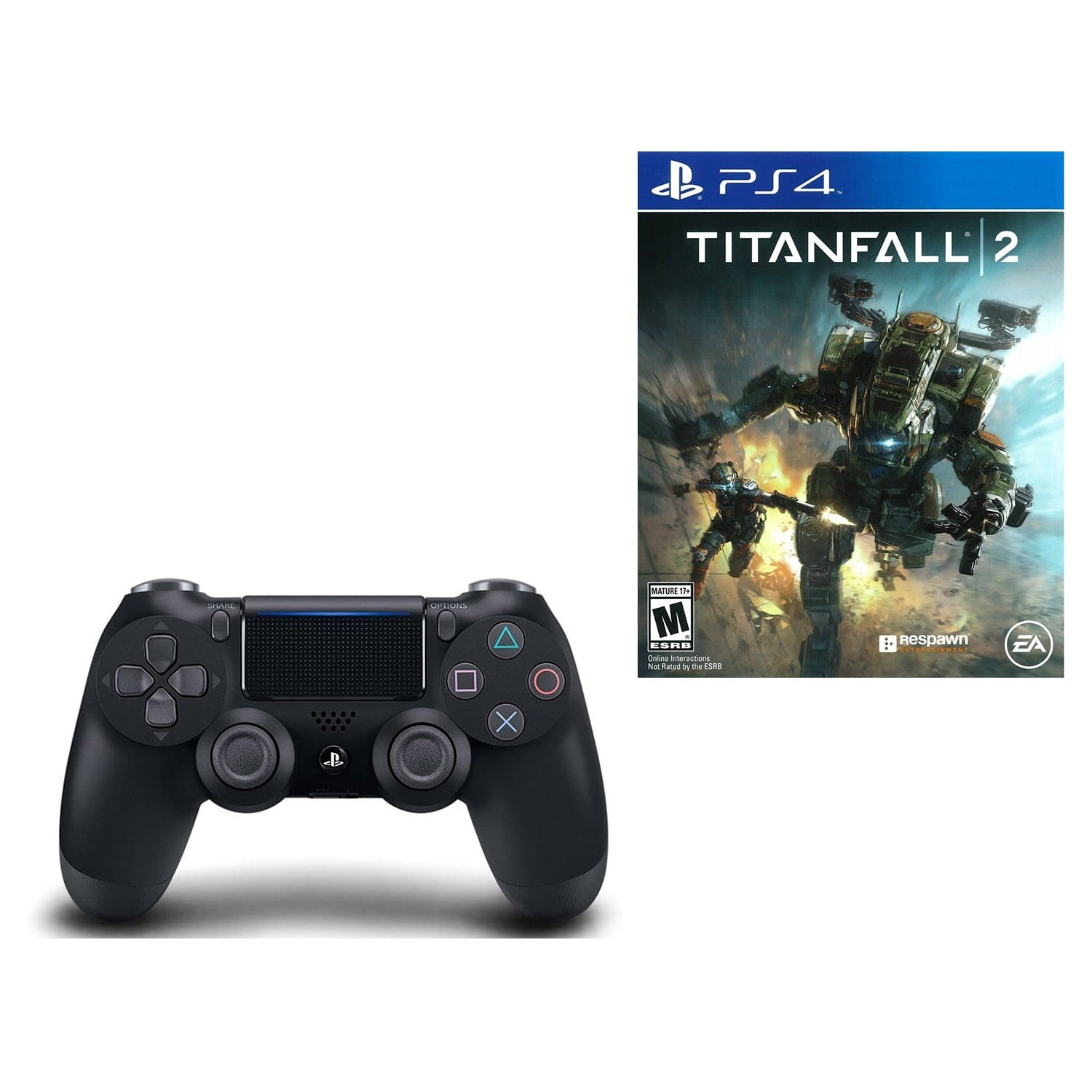 PlayStation 4 DualShock 4 Wireless Controller + Titanfall 2 for $46.71 + Free Shipping