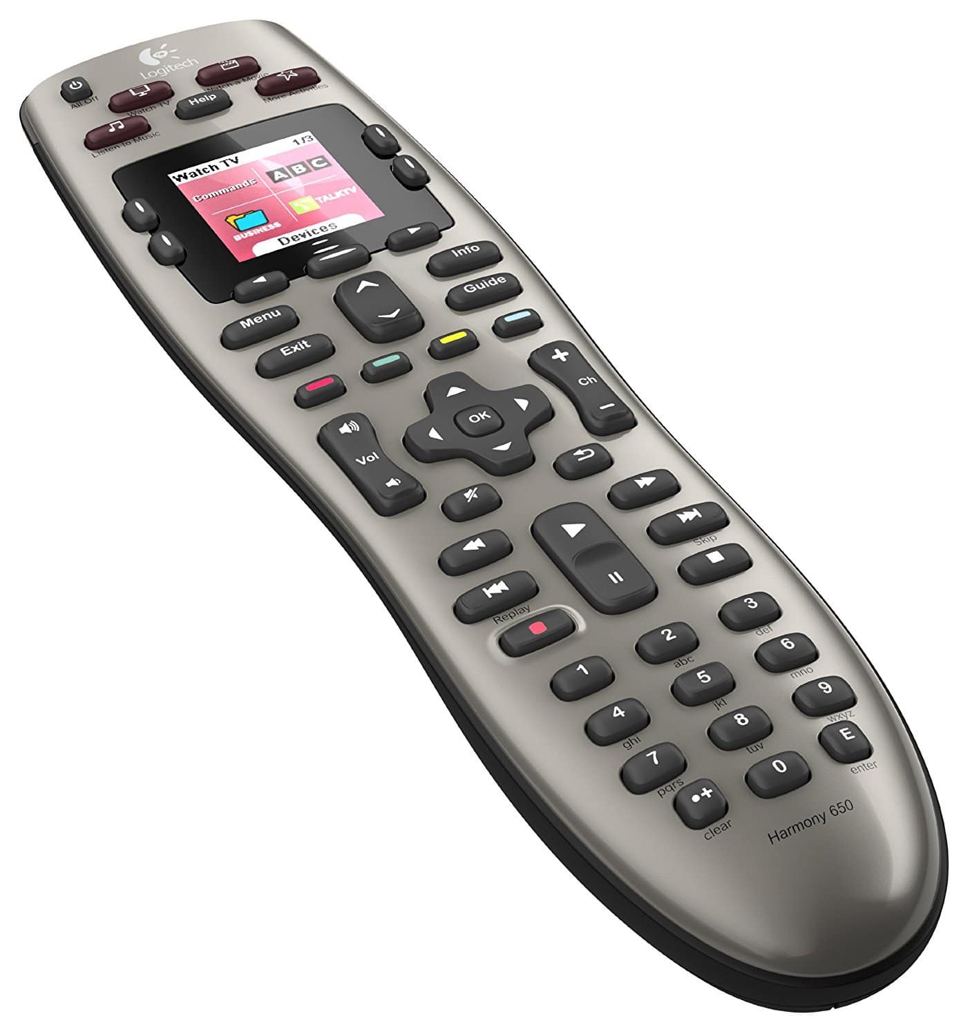 Logitech Harmony 650 Remote Control with Multiple Devices Universal for $34 + Free Shipping