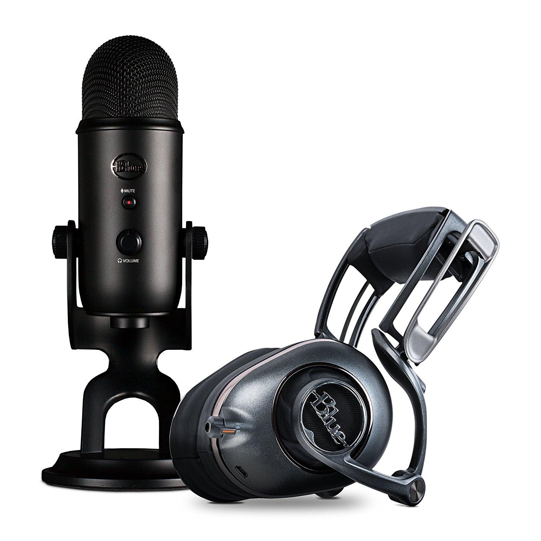 Blue Yeti Blackout Mic & Mo-Fi Headphones Ninjas in Pyjamas Pro Streamer Bundle $191.21 + Free Shipping
