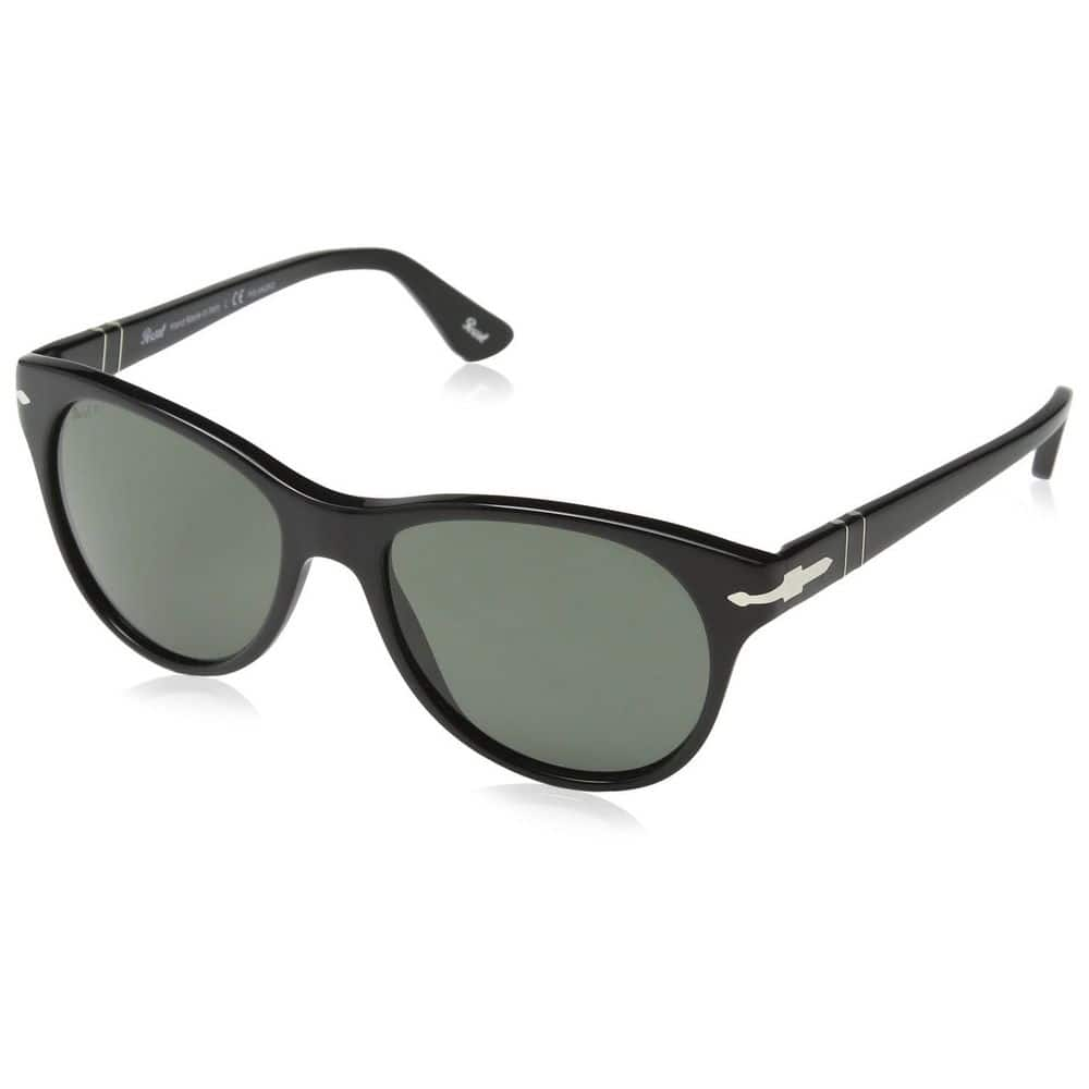 Persol PO3134S 95/58 Black Frame Crystal Polarized Green Lens 54mm Sunglasses $52.99 + Free Shipping