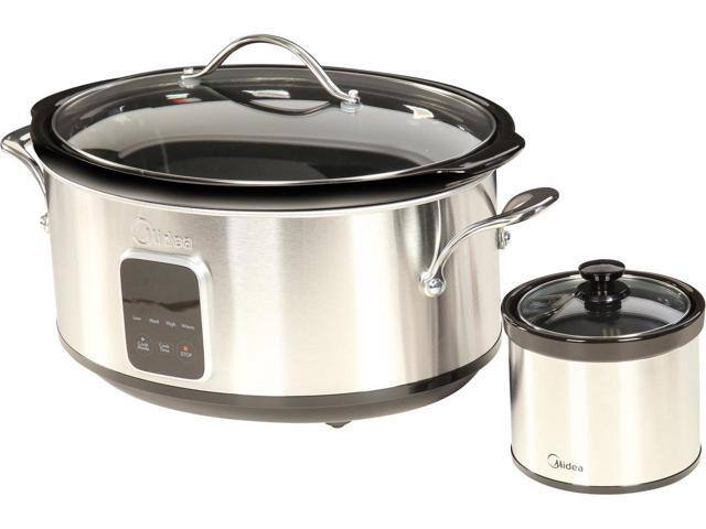 Midea 6.5 Qt. Slow Cooker with 16 oz. Warmer Crock $34.99 + Free Shipping