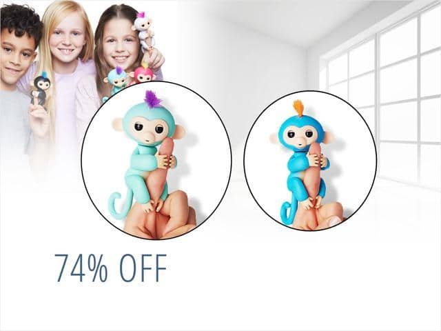 Fingerlings Interactive Baby Monkey Finn By WowWee for $12.99 + Free Shipping