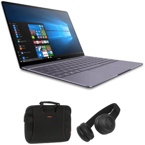 "Huawei 13"" Matebook X Notebook with Ultra Thin Laptop Sleeve and Bluetooth On-Ear Headphones Kit $799 + Free Shipping"