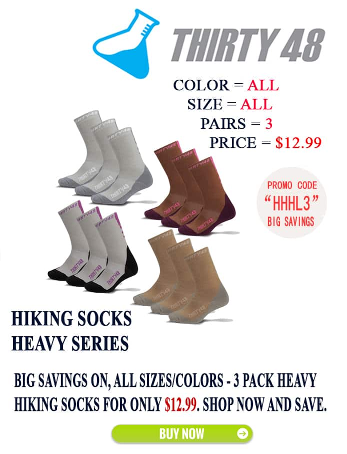 3-Pairs Thirty48 Heavy Hiking Socks for $12.99 + Free Shipping