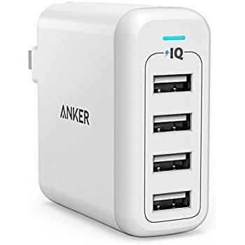 Anker 40W 4-Port USB Wall Charger $16.99 + FSSS