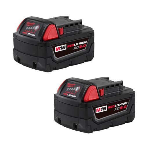 2-Pack Milwaukee 48-11-1850 M18 REDLITHIUM 5.0 Ah Extended Capacity Battery $93 + Free Shipping (eBay Daily Deal)