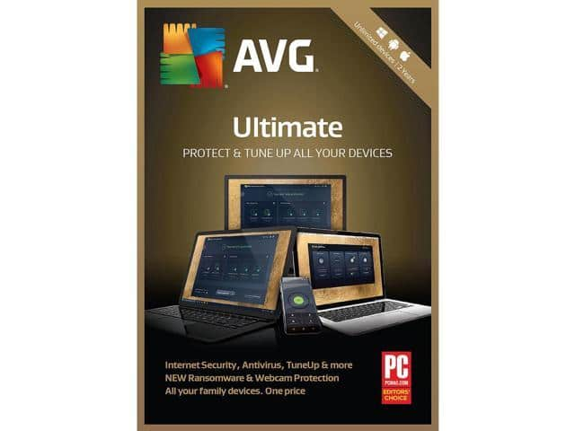 AVG Ultimate 2018 Unlimited Devices 2 Years - Download $27.99