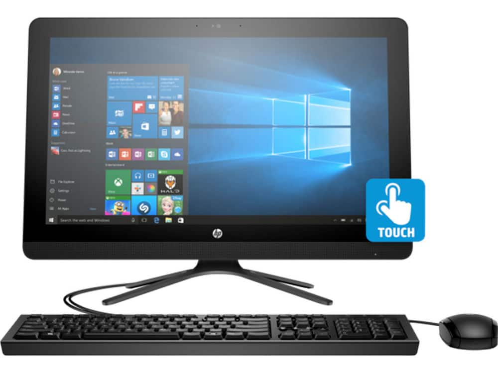 """HP 22-B382DS 21.5"""" Touch AIO Desktop Intel Quad-Core 4GB 1TB Win10 (Refurbished) for $259.99 + Free Shipping"""