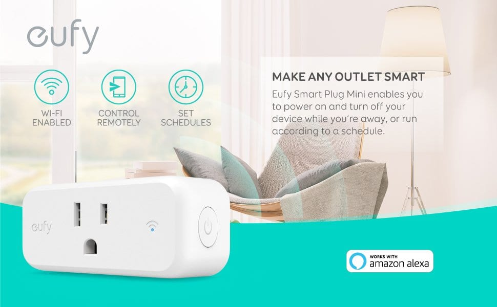 Eufy Smart Plug Mini (No Hub Required) for $18.99 + FSSS