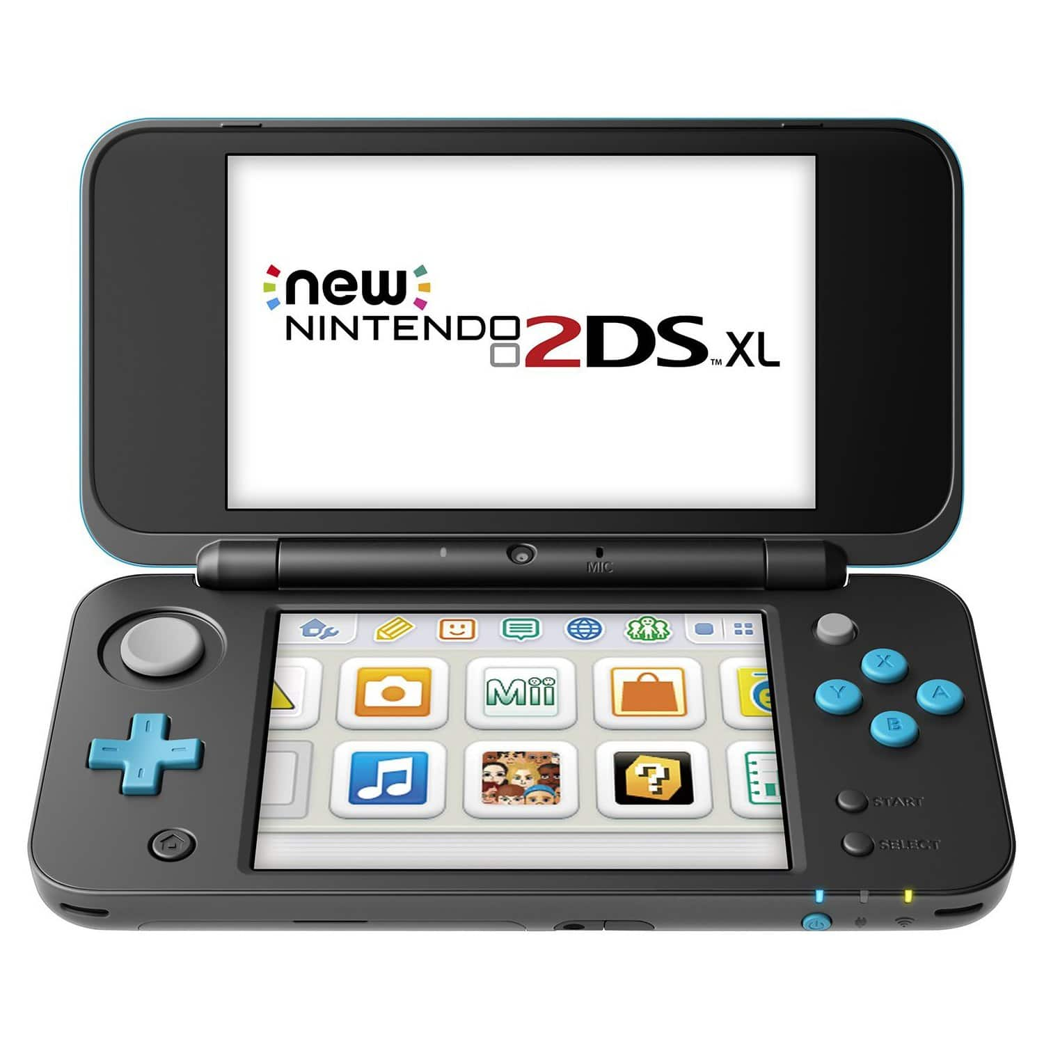 Nintendo 2DS XL Video Game Console w/ NFC Amiibo Reader (Turquoise or White Orange) for $127 AC + Free Shipping