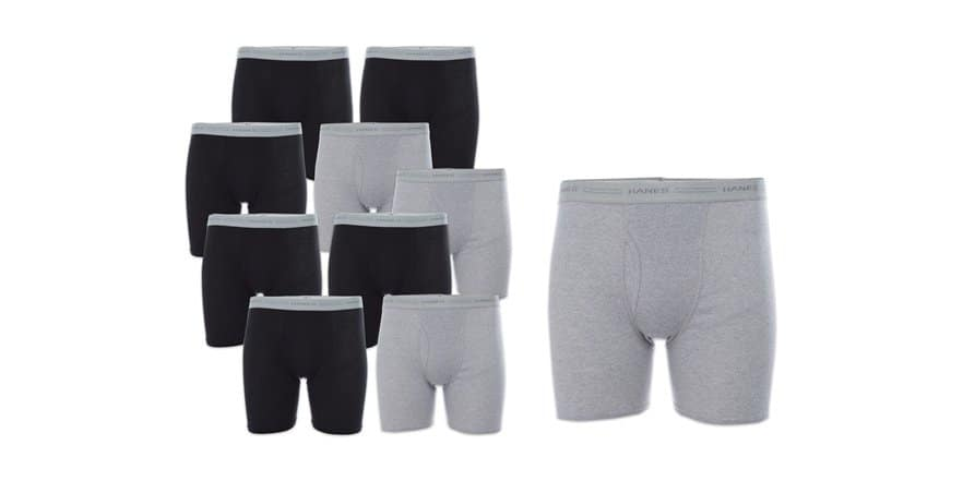 10 pair of Hanes' Boxer Briefs for $23.99 - Free Shipping w/ Prime
