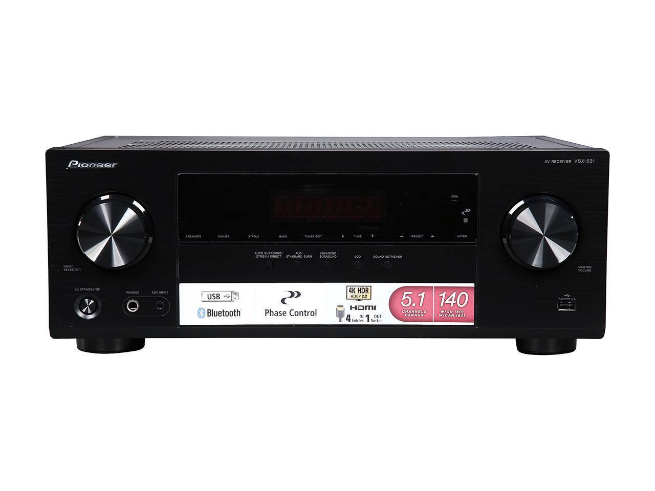 Pioneer VSX-531 5.1-Channel Receiver $189.99 + Free Shipping