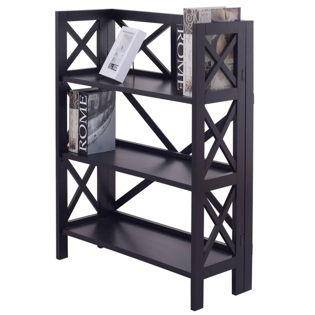 Costway 3-tier Foldable Bookcase $39.95 + Free Shipping