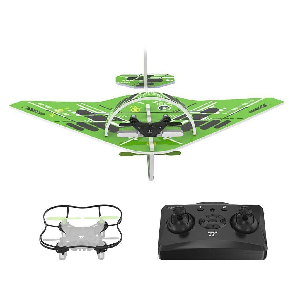 TaoTronics Quadcopter Drone, 2 IN 1 Glider Air plane, RC Quadcopter Helicopter Drone $20.99 + FSSS