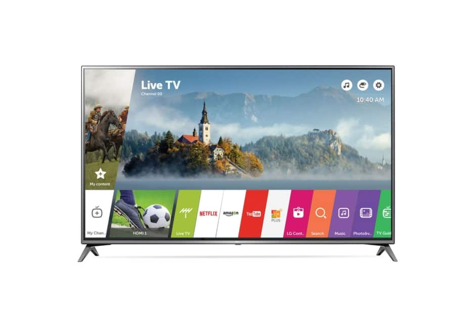 LG Electronics 43UJ6300 43-Inch 4K Ultra HD Smart LED TV for $269.99 AC Shipped