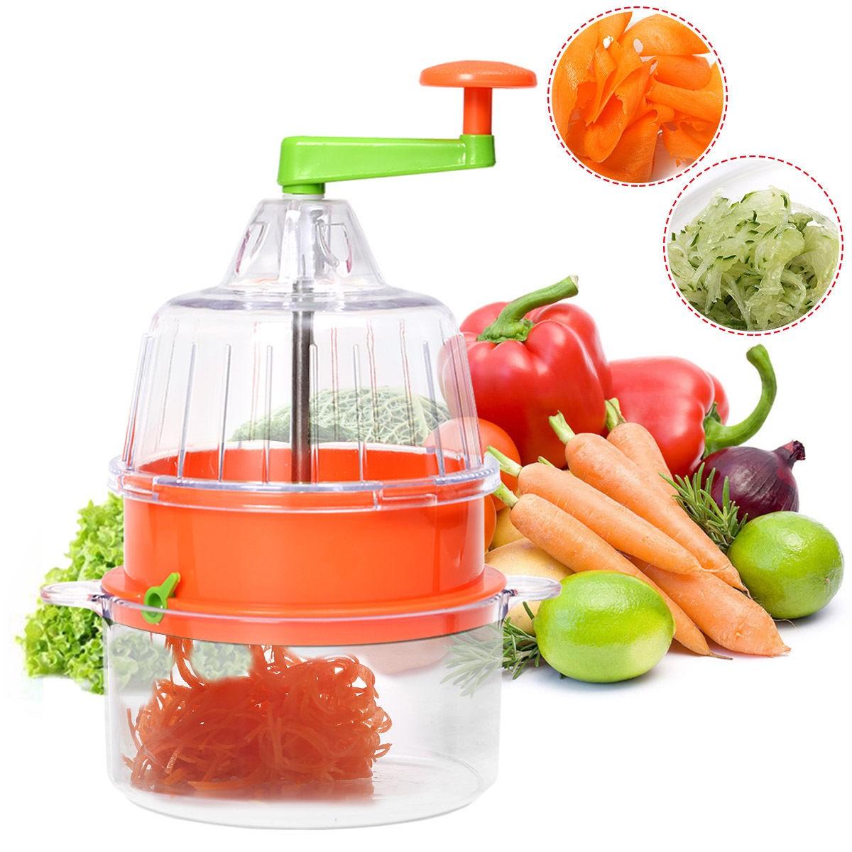 Costway Multifunctional Manual Spiral Vegetable Slicer Fruit Cutter $5.95 + Free Shipping