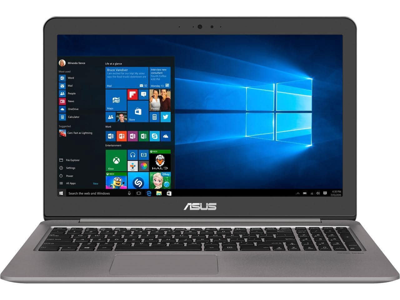 "ASUS Zenbook UX510UX-NH74 15.6"" Intel Core i7 7th Gen 7500U (2.70 GHz) NVIDIA GeForce GTX 950M 8 GB Memory 256GB SSD 1 TB HDD $839.00 + FS"