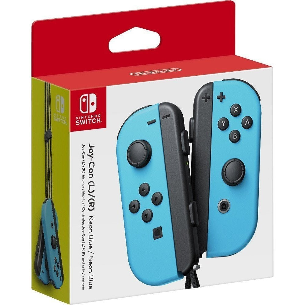 Nintendo Switch Joy-Con Controllers Wireless Left/Right (Neon Blue or Neon Red) $63.70 + Free Shipping
