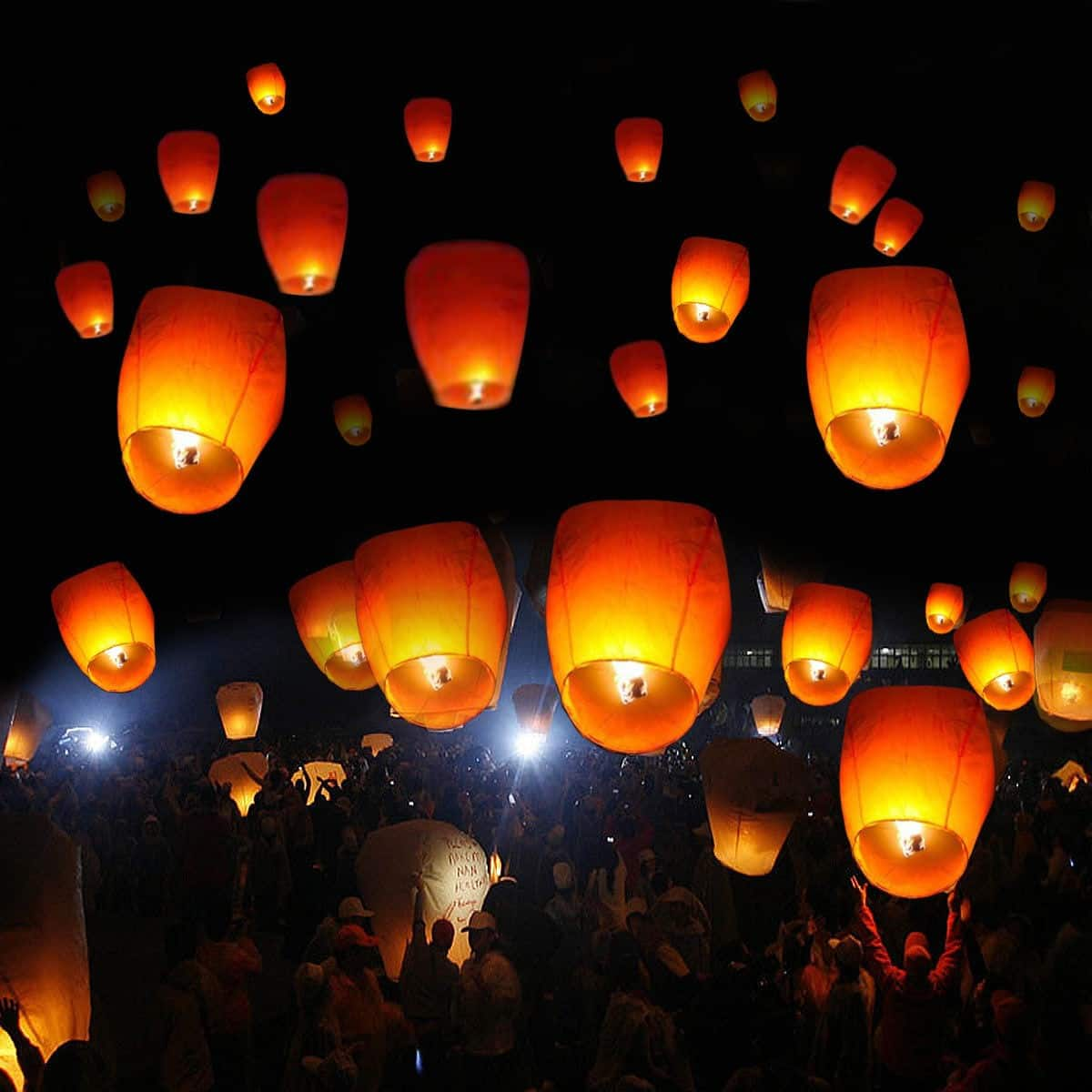 Costway 50-Pieces of White Paper Chinese Lanterns $19.95 + Free Shipping