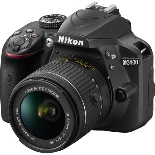 Nikon D3400 DSLR Camera with 18-55mm Lens (Black) for $396.95 or Nikon D3400 w/18-55 & 55-300 for $496.95 + Free Shipping
