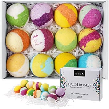 Aprilis 12-Pack Bath Bombs Gift Set, Natural Vegan Bath Bomb Kit w/ Organic Essential Oil - $12.99 + FSSS