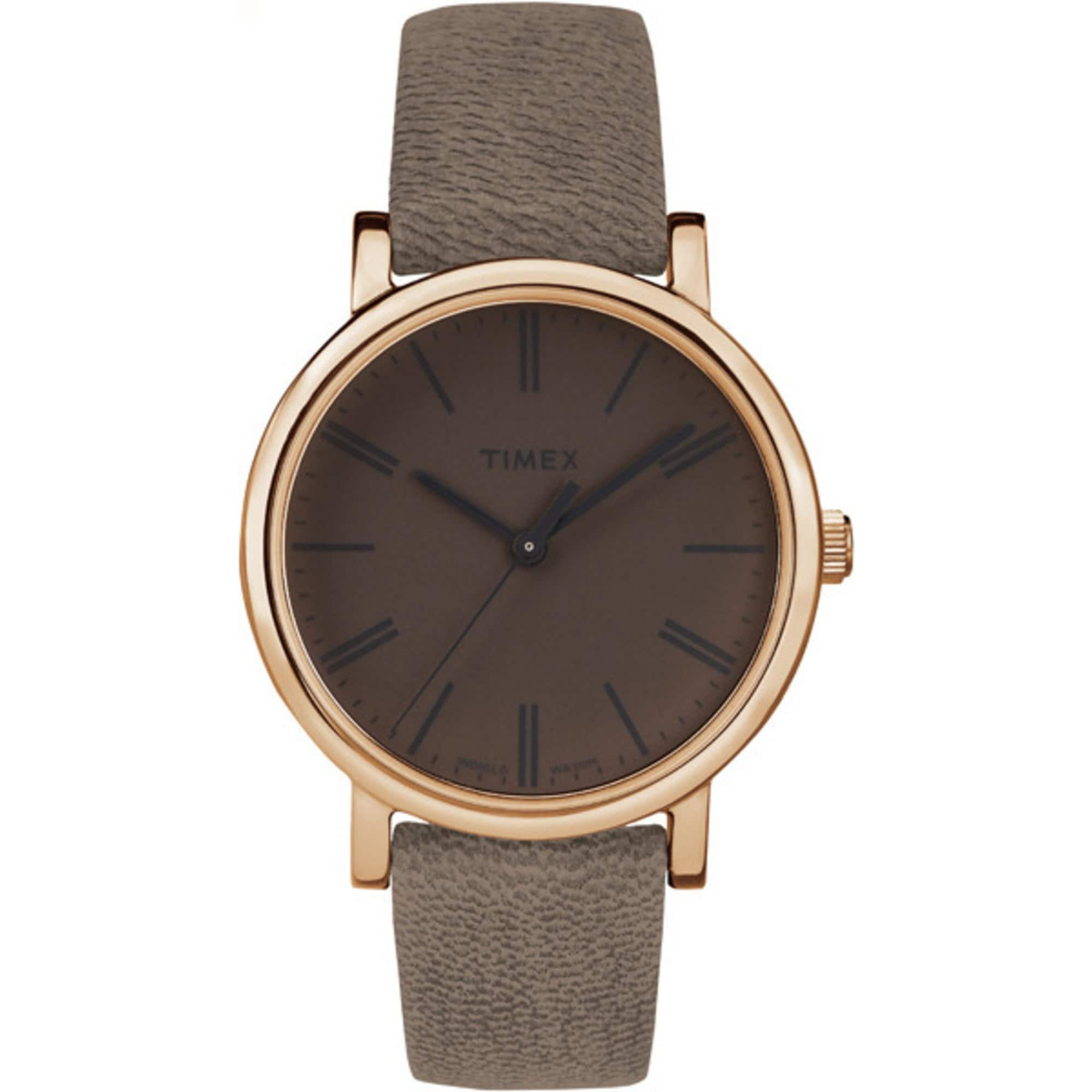 Timex Originals - Brown Leather Band Minimal Dial Casual Watch: $19.99 AC + Free Shipping