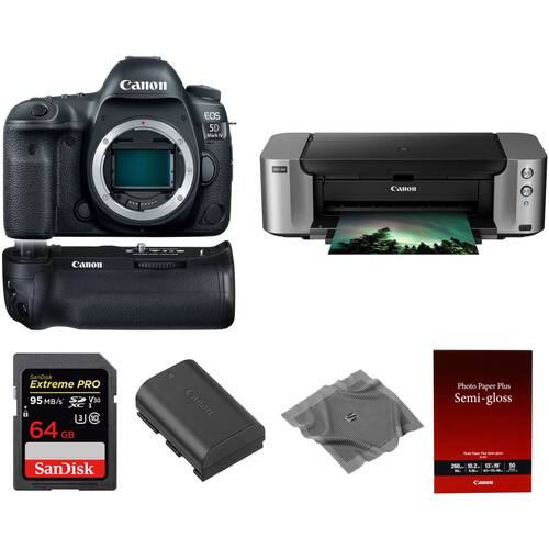 Canon EOS 5D Mark IV  Printer Bundle & More: Starting At $2749 AR + Free Shipping