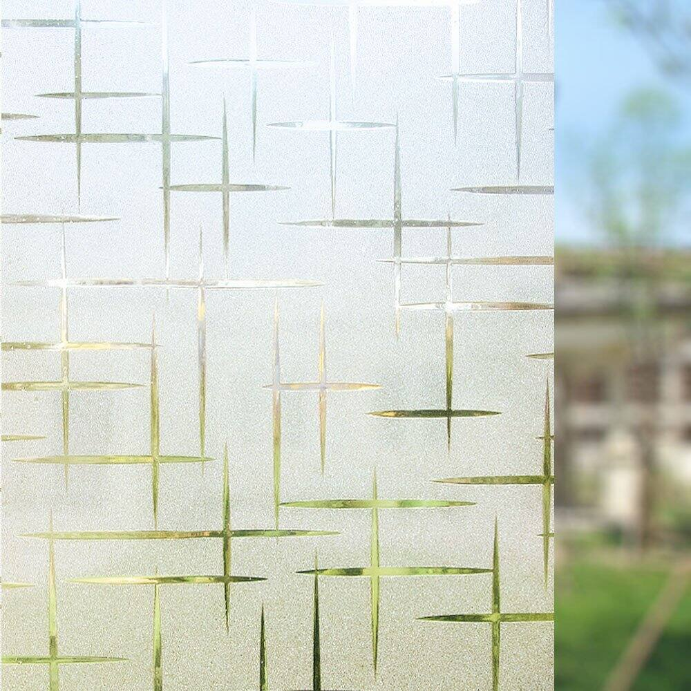 Rabbitgoo Cross Pattern Frosted Window Film for $6.20 AC + FSSS