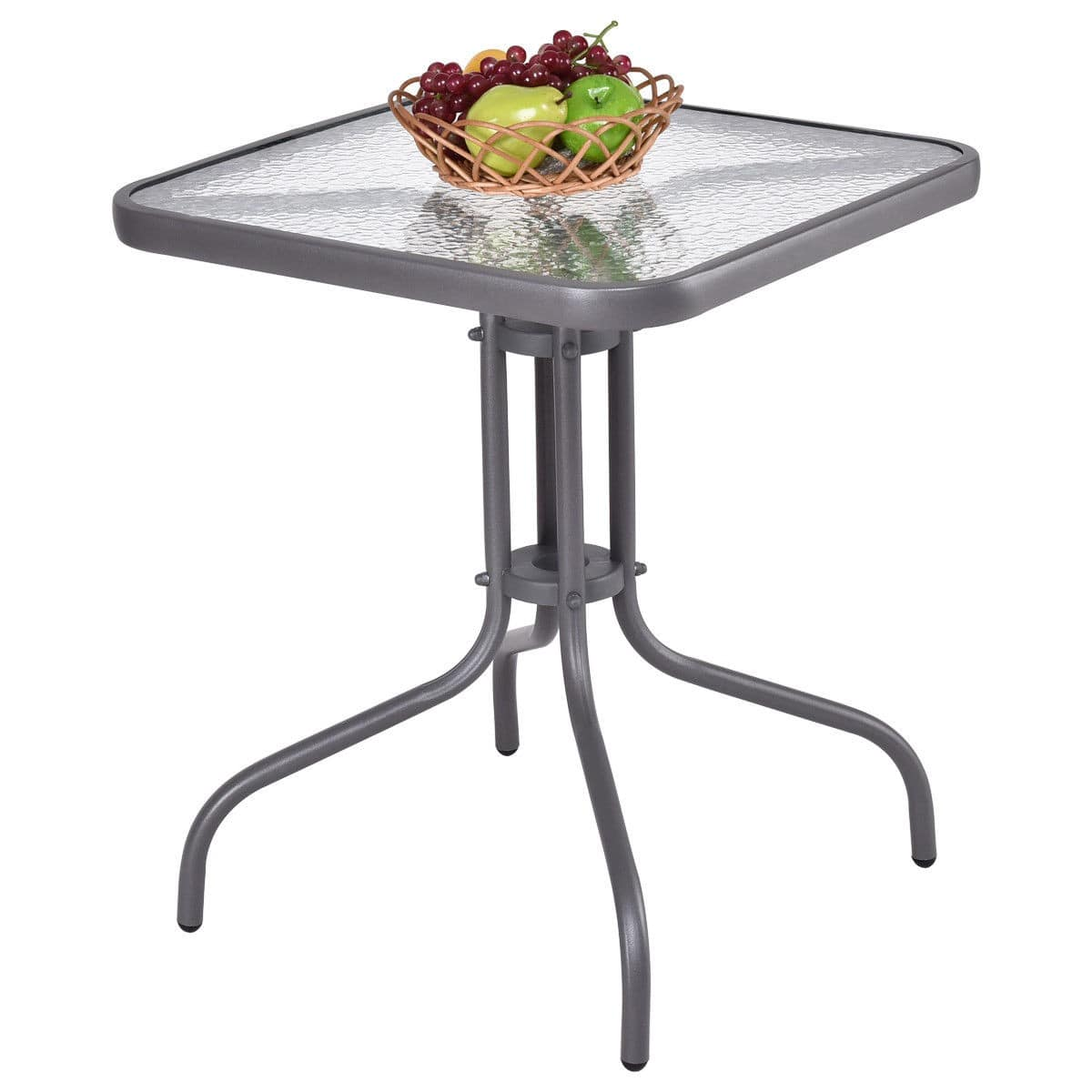 """Costway 24"""" Outdoor Patio Square Table with Tempered Glass Top $23.95 + Free Shipping"""