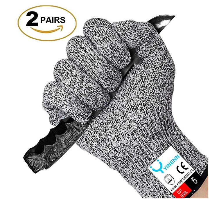 2 Pairs YINENN Cut Resistant Gloves $6.35 AC + FSSS