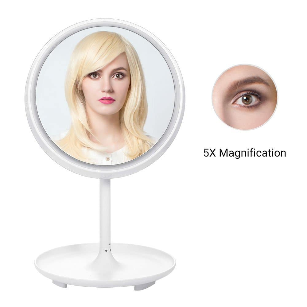 MelodySusie 2-in-1 Lighted Makeup Mirror Table Lamp for $18 + FSSS