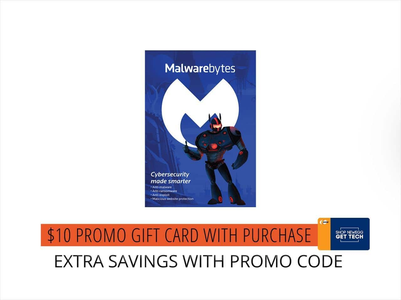 Malwarebytes Anti-Malware Premium 1 YR / 3 PC - Download  + $10 Newegg GC for $20