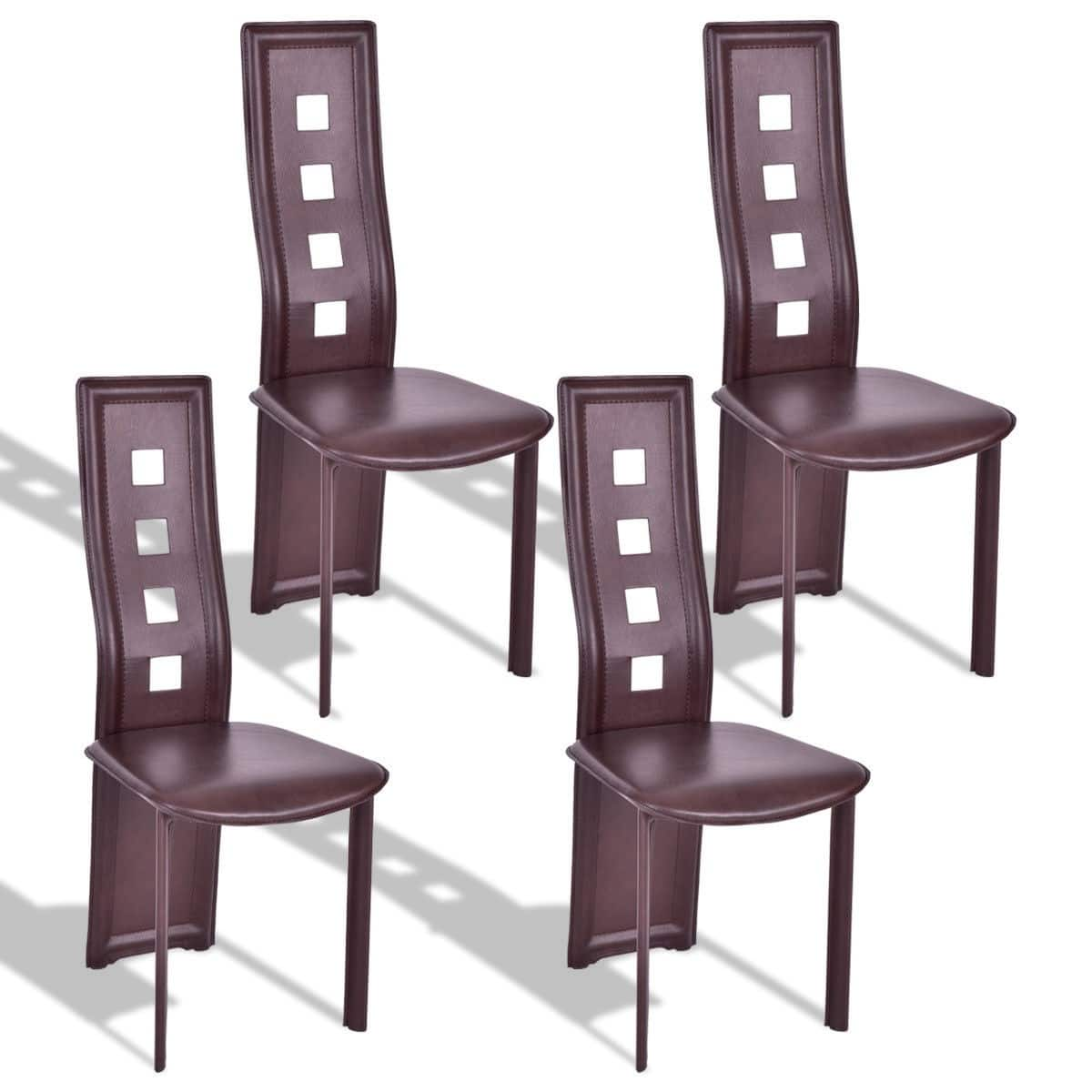 Costway 4-Piece Steel Frame High Back Armless Dining Chairs $60 + FS