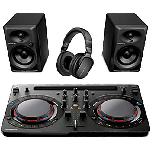 Pioneer DJ Performance Pack with DDJ-WeGO4-K Controller, DM-40 Speakers, and HRM-5 Headphones $399.00 + Free Shipping