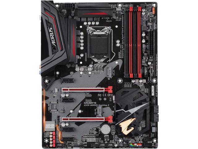 GIGABYTE Z370 AORUS Gaming 3 LGA 1151 (300 Series) Intel Z370 HDMI SATA 6Gb/s USB 3.1 ATX Intel Motherboard $100 AR + FS
