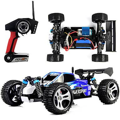 Wltoys A959 1/18 1:18 Scale 2.4G 4WD RTR Off-Road Buggy RC Car $39.99 & More + FS