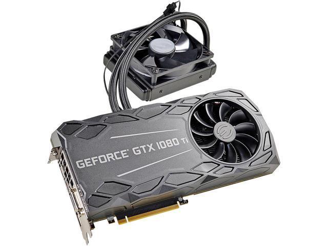 EVGA GeForce GTX 1080 Ti FTW3 HYBRID GAMING, 11G-P4-6698-KR, 11GB GDDR5X, HYBRID & RGB LED, iCX Technology - 9 Thermal Sensors $750 + FS