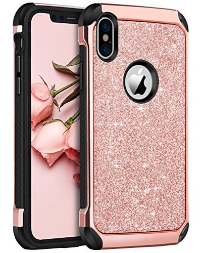 Bentoben Apple iPhone X Cell Phone Glitter Case $2 AC + FSSS