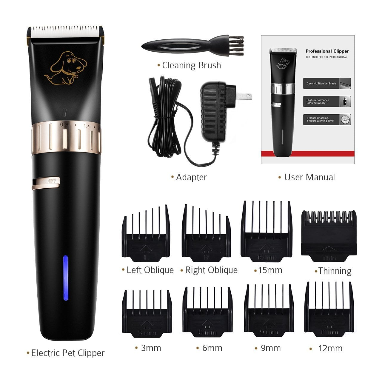 OMORC Cordless Pet Hair Trimmer (Pet Grooming Kit) for $11.99 + FSSS