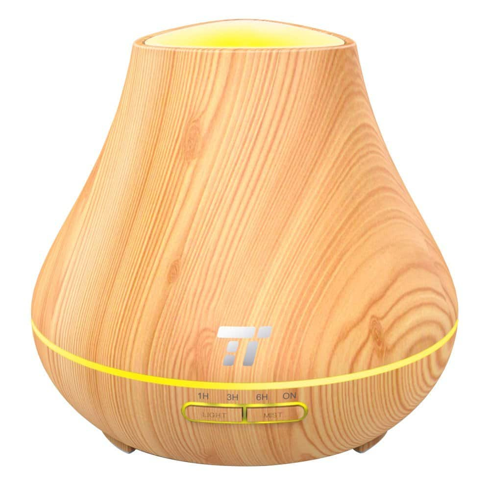 TaoTronics Essential Oil Diffuser 400ml Wood Grain Aroma Diffuser for Aromatherapy $16.99 + FSSS